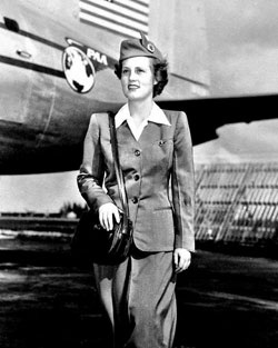 Sallie McBride loved traveling and it led her to become a PanAm stewardess in 1949.